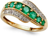 Macy's Emerald (3/4 ct. t.w.) and Diamond Accent Ring in 14k Gold