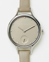 French Connection Daisy Classic 32mm Slim Leather Strap Watch