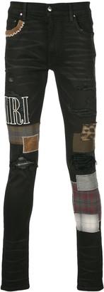 Amiri Skinny Patchwork Jeans