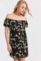 Kimchi & Blue Kimchi Blue Embroidered Floral Off-The-Shoulder Dress