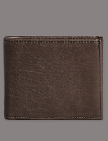 Autograph Heavy Grain Leather Bifold Wallet With Cardsafetm