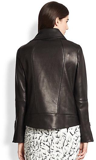 Helmut Lang Petal Asymmetrical Leather Jacket