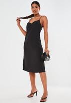 Missguided Black Cami Midi Dress