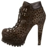 Alaia Ponyhair Lace-Up Booties w/ Tags