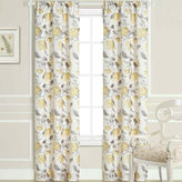 Laura Ashley Hydrangea Rod-Pocket 2-Pack Curtain Panels