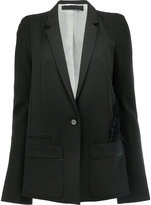 Haider Ackermann one button blazer - women - Silk/Cotton/Rayon/Virgin Wool - 38