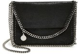 Stella McCartney 'Mini Falabella - Shaggy Deer' Faux Leather Crossbody Bag - Black