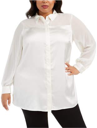 Alfani Plus Size Embellished Blouse
