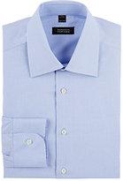 Barneys New York Men's End-On-End Shirt-BLUE