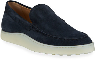 Tod's Men's Polacco Suede Slip-On Sneakers