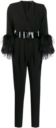 P.A.R.O.S.H. Belted Slim-Fit Jumpsuit