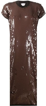 Bottega Veneta Sequinned Midi Dress