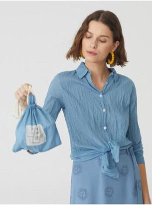 Nice Things 99 Twist And Go Shirt - 38 / Blue