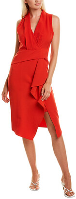 Taylor Asymmetrical Midi Dress