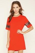 Forever 21 FOREVER 21+ Varsity-Striped T-Shirt Dress