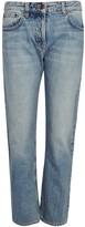 The Row Ashland Blue Cropped Straight-leg Jeans