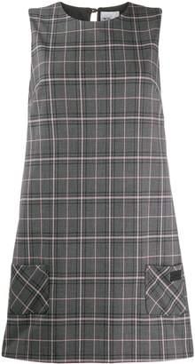 Blumarine Be Check Pattern Shift Dress