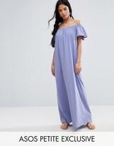 Asos Off Shoulder Maxi Dress