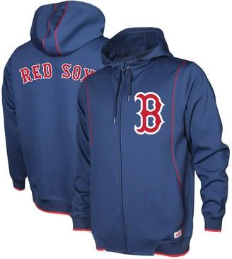 Stitches Men's Navy Boston Red Sox Logo Full-Zip Hoodie