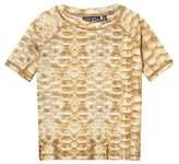 Molo Gold Fishscale Neptune Rash Vest