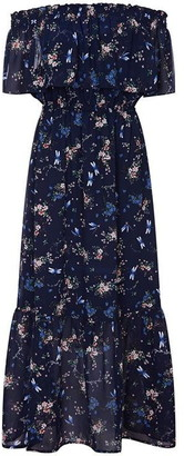Bardot Yumi Curves Dragonfly Print Maxi Dress