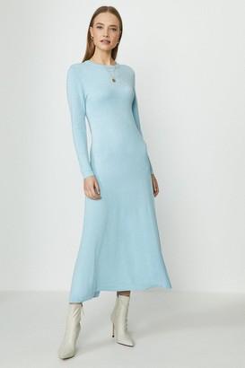 Coast Long Sleeve Knitted Glitter Midi Dress