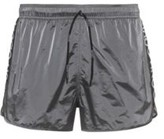 HUGO Quick-drying swim shorts with reversed-logo stripe