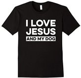 Mens I Love Jesus and My Dog T-Shirt Funny Christian Message 3XL