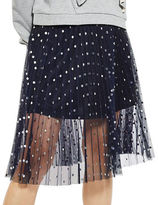 Topshop PETITE Foil Spotted Pleat Skirt