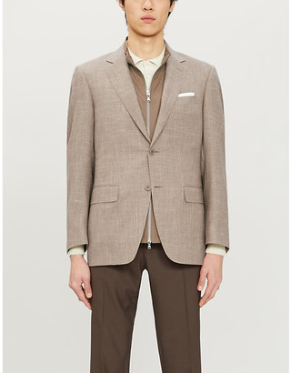 Canali Tailored-fit wool-and-silk-blend jacket