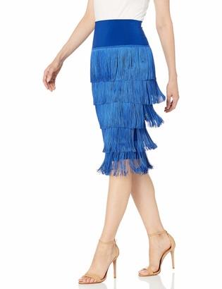 Norma Kamali Women's All Over Fringe Tube Skirt