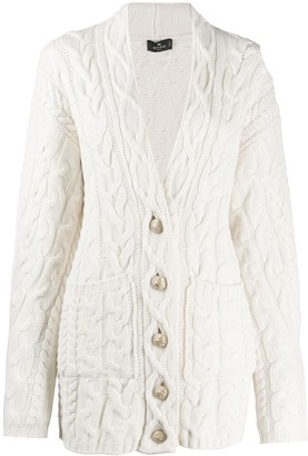 Etro Oversized Cable-Knit Cardigan