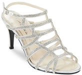 Caparros Harmonica Rhinestone Leather Stiletto Sandals