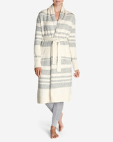 Eddie Bauer Women's Long Sleep Cardigan - Stripe