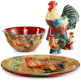 Certified International Rustic Rooster Serveware Collection