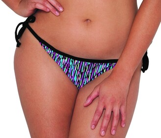Curvy Kate Women's Galaxy Side Tie Brief Bikini Bottom