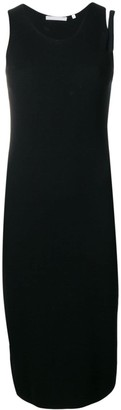 Helmut Lang sleeveless knitted midi dress