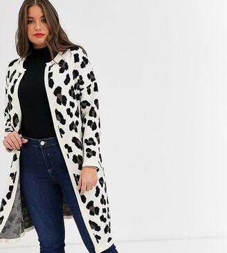 Koko longline leopard print cardigan