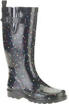 Generic Women's Polka Dot Print Tall Rubber Rain Boots
