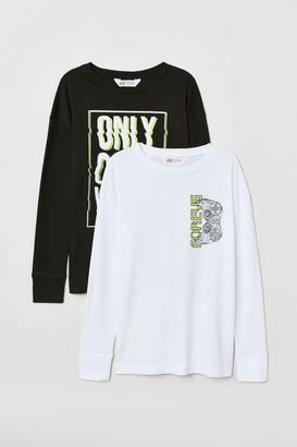 H&M 2-pack Printed Jersey Shirts