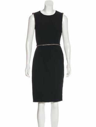 Chanel Sleeveless Wool Dress Black