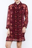 Anna Sui Printed Shirt Dress