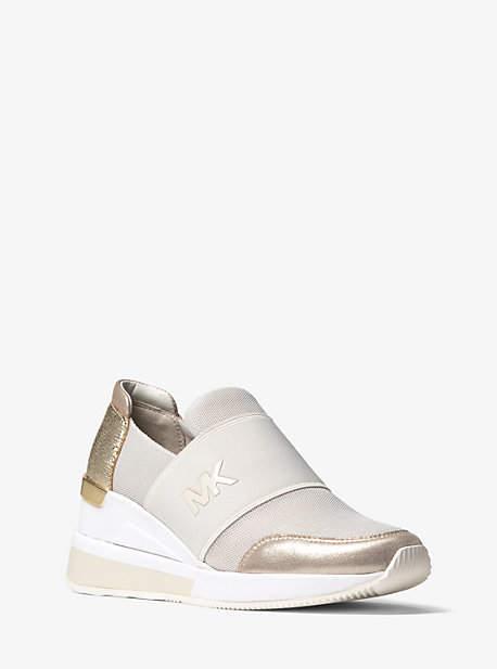 Michael Kors Felix Scuba And Metallic Sneaker