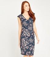 New Look Rose V Neck Knee Length Dress