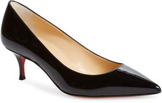 Christian Louboutin Kate Kitten Heel Pointed Toe Pump