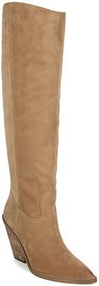 Sam Edelman Suede Western Tall Shaft Boots - Indigo