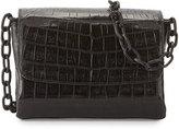 Nancy Gonzalez Crocodile Triple-Gusset Mini Crossbody Bag, Black Matte