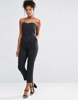 Liquorish Tailored Bandeau Jumpsuit