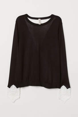 H&M Jumper with lace details