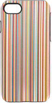 Paul Smith striped iPhone 7 case - men - Calf Leather/Polycarbonite - One Size